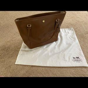 Coach Peyton top zipper tote w/ saffiano leather